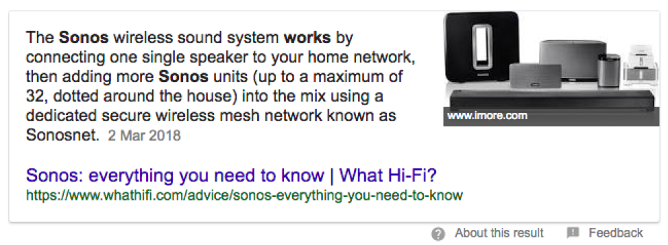 featured snippet for WhatHIfI