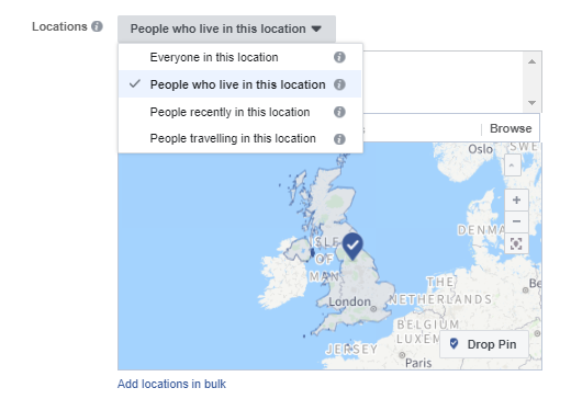 Facebook Locations