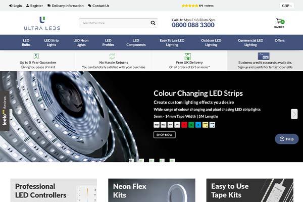 ultra leds website casestudy